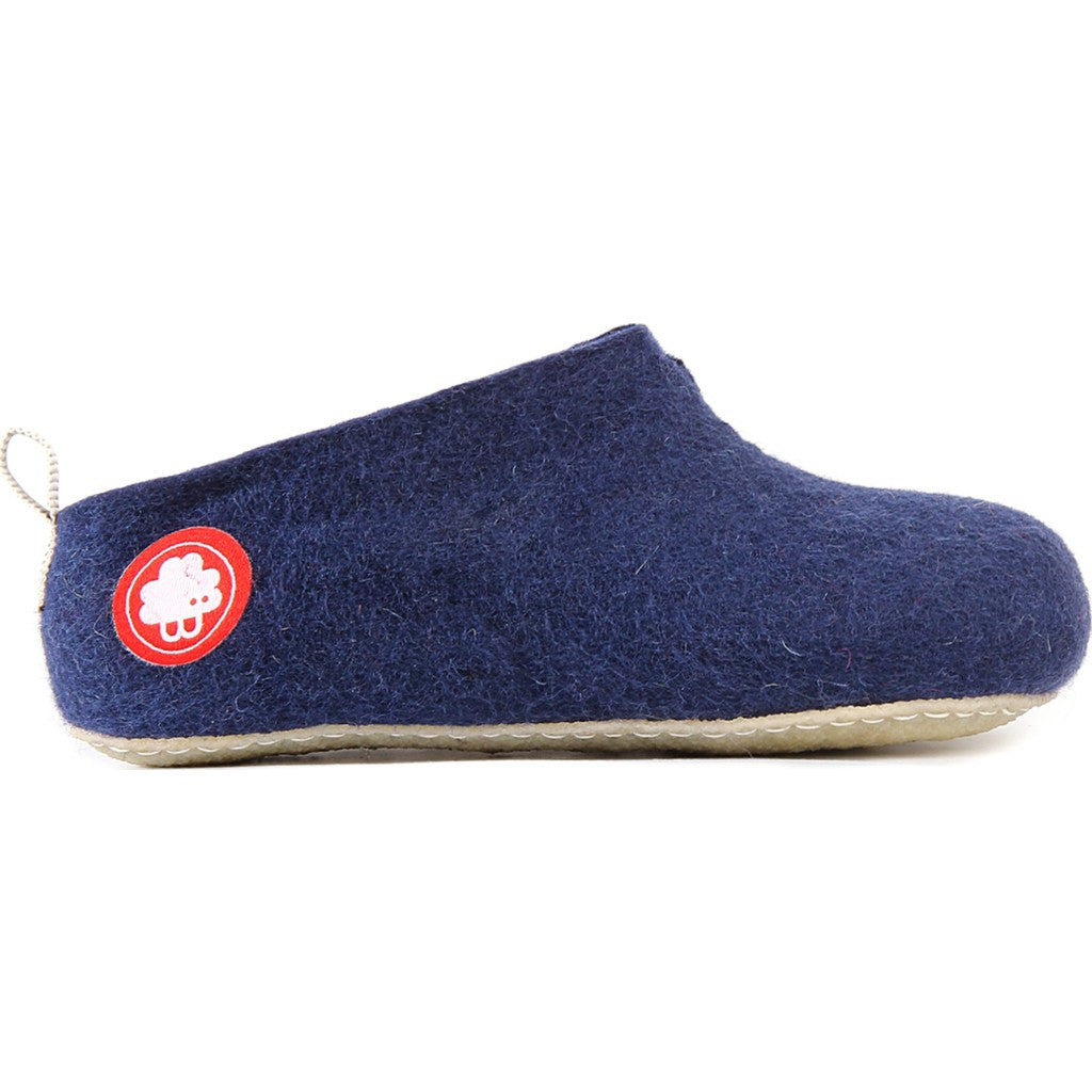 Baabuk Gus Kid's Wool Slippers | Navy Blue 24 GUS03-BL7-R-24