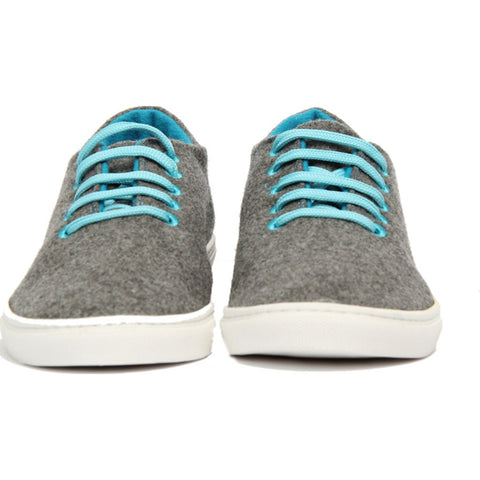 Baabuk Wool Sneaker | Light Grey/Turquoise 35