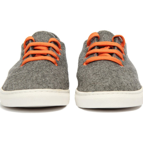 Baabuk Wool Sneaker | Light Grey/Orange 35
