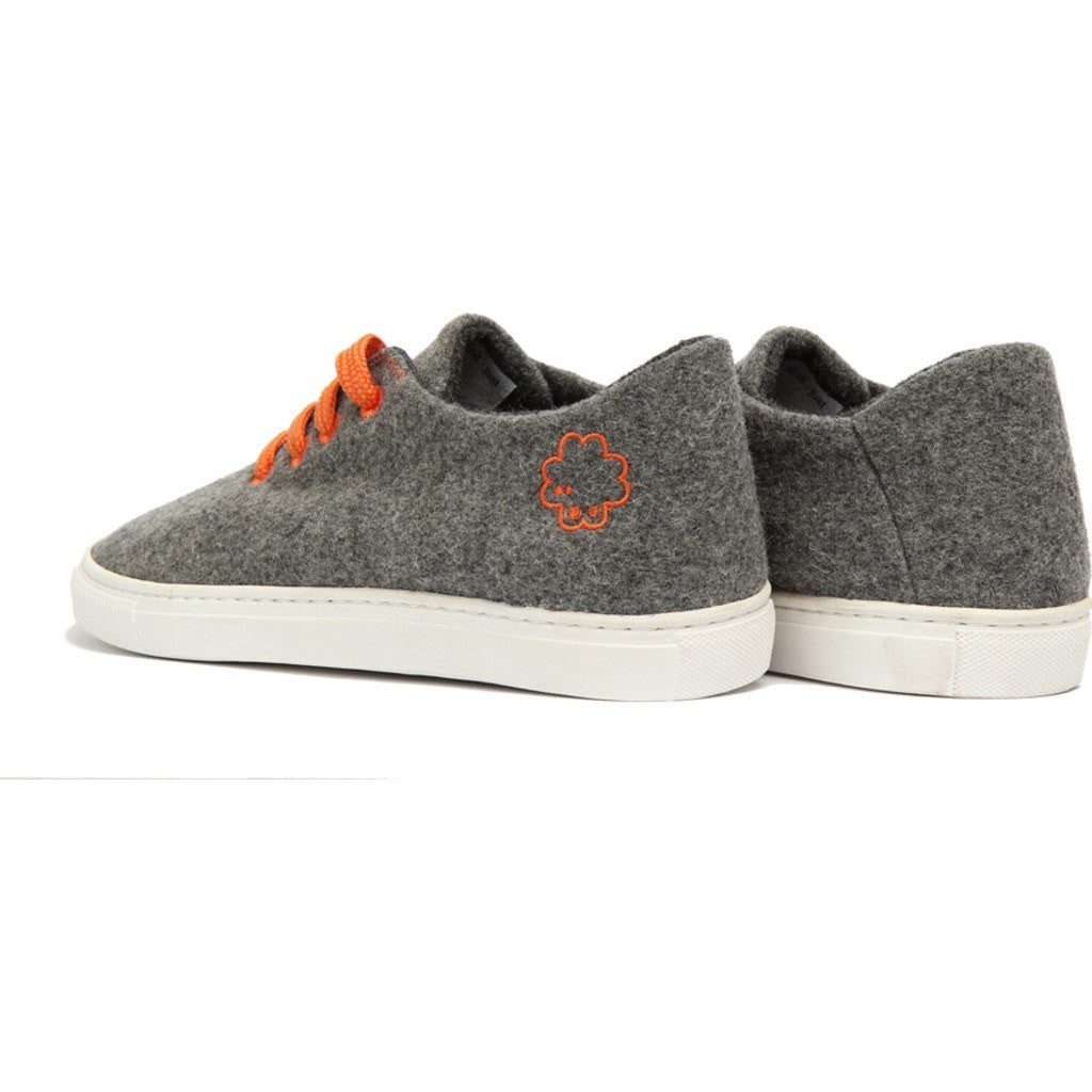 Baabuk Wool Sneaker | Light Grey/Orange 38