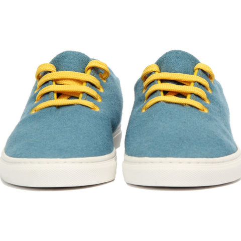 Baabuk Wool Sneaker | Light Blue/Yellow 35