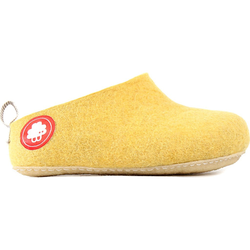 Baabuk Gus Wool Slippers | Yellow 35 GUS02-Y4-R-35