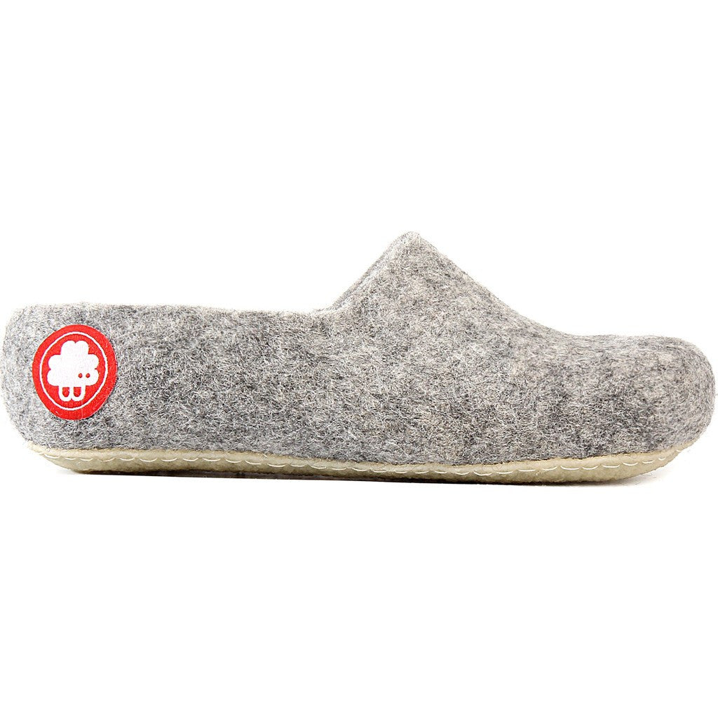 Baabuk Jeremy Wool Slippers | Light Grey 35 JER02-LG-R-35