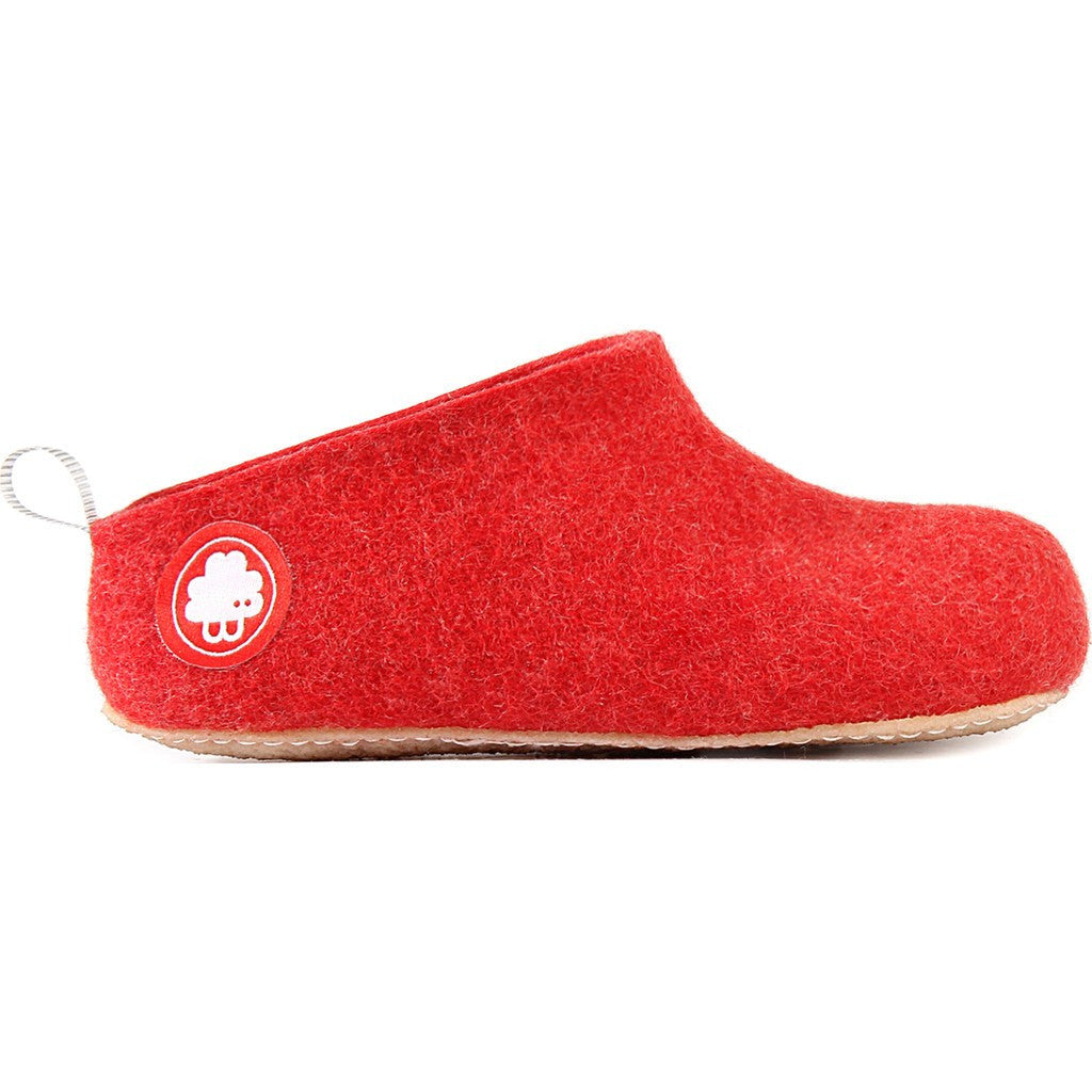Baabuk Gus Kid's Wool Slippers | Red 24 GUS03-R1-R-24