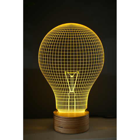 Studio Cheha Yellow Bulb LED Table Lamp | Birch