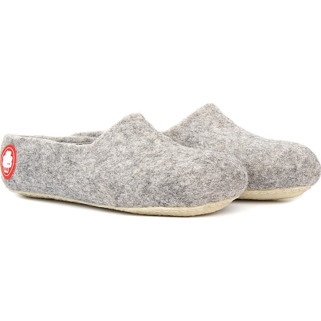 Baabuk Jeremy Wool Slippers | Light Grey 36 JER02-LG-R-36
