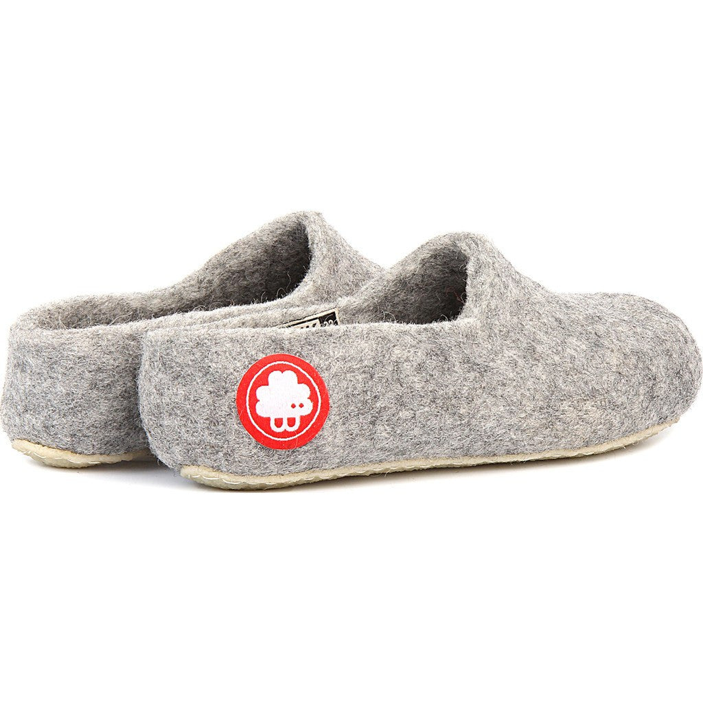 Baabuk Jeremy Wool Slippers | Light Grey 37 JER02-LG-R-37
