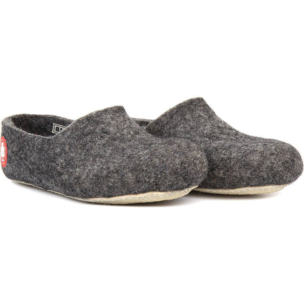 Baabuk Jeremy Wool Slippers | Dark Grey 36 JER02-DG-R-36