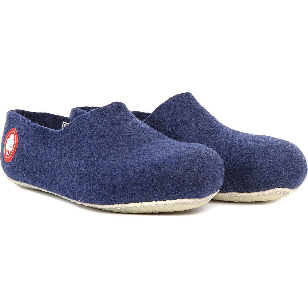 Baabuk Jeremy Wool Slippers | Navy Blue 36 JER02-BL7-R-36