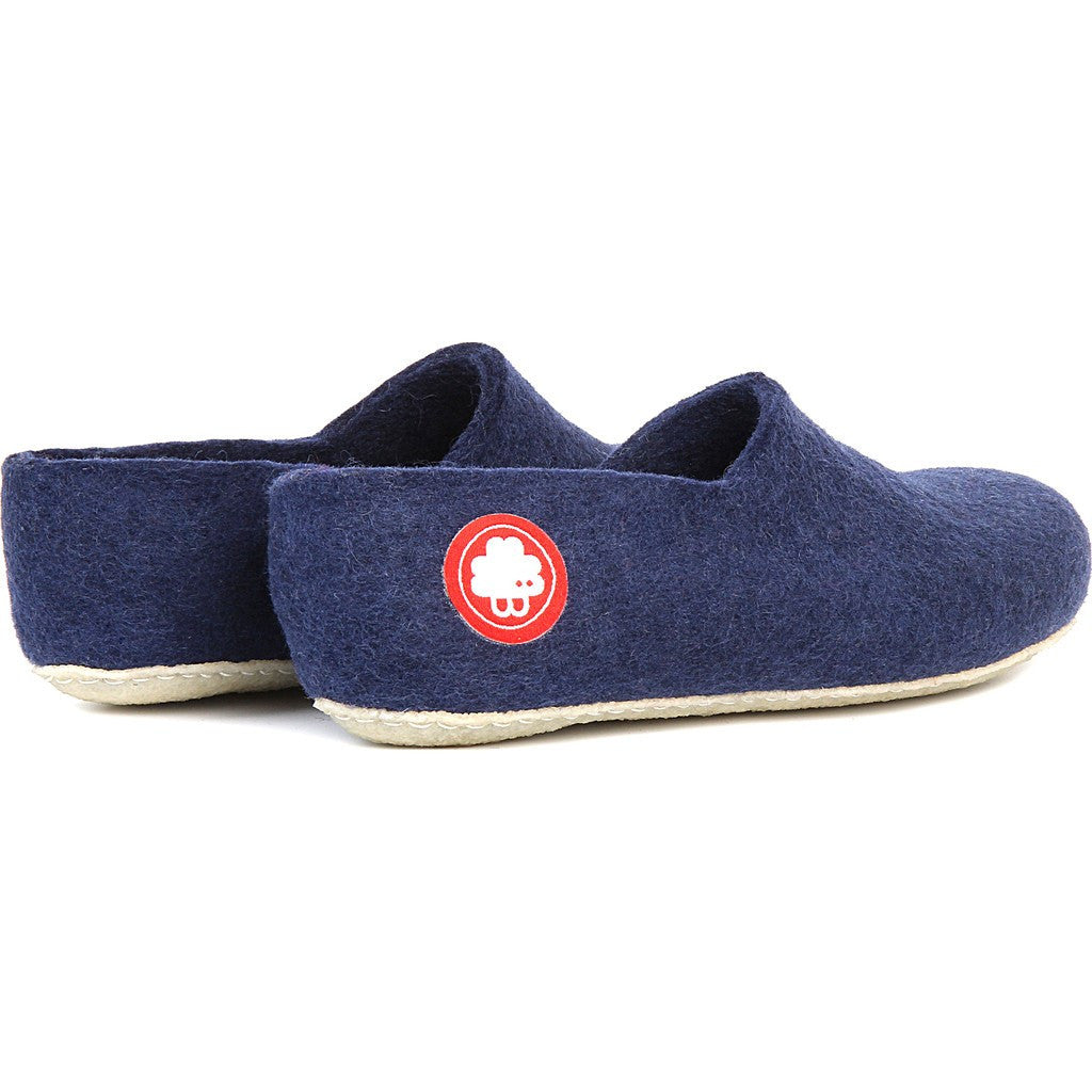 Baabuk Jeremy Wool Slippers | Navy Blue 37 JER02-BL7-R-37