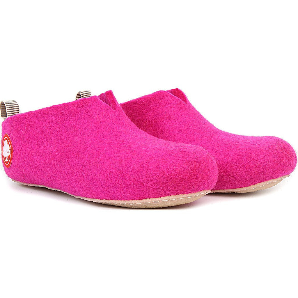 Baabuk Gus Kid's Wool Slippers | Dark Pink 25 GUS03-P2-R-25