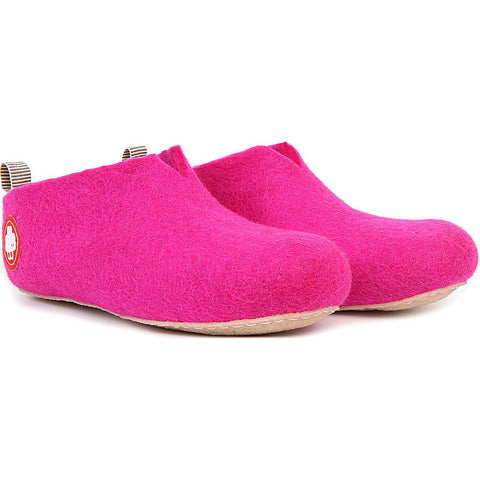 Baabuk Gus Kid's Wool Slippers | Dark Pink 24 GUS03-P2-R-24