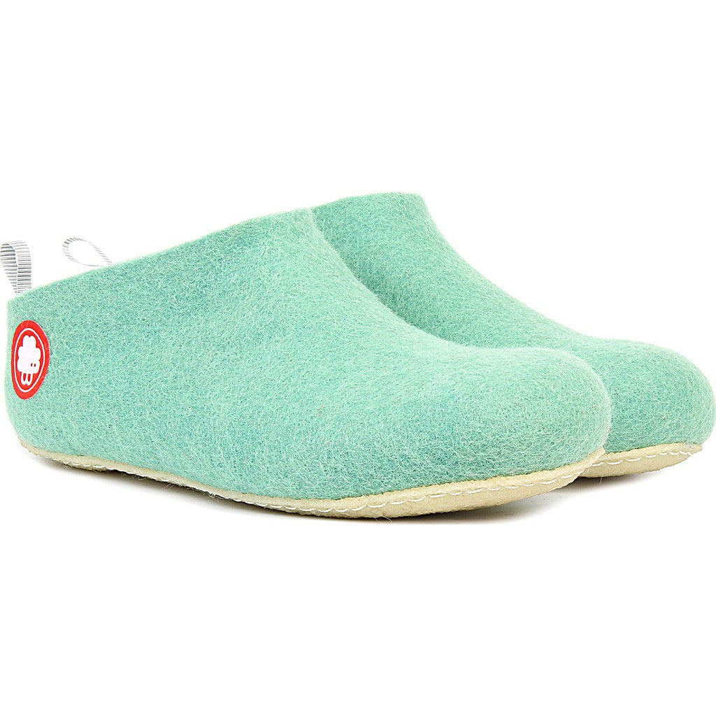 Baabuk Gus Wool Slippers | Green 36 GUS02-GN5-R-36