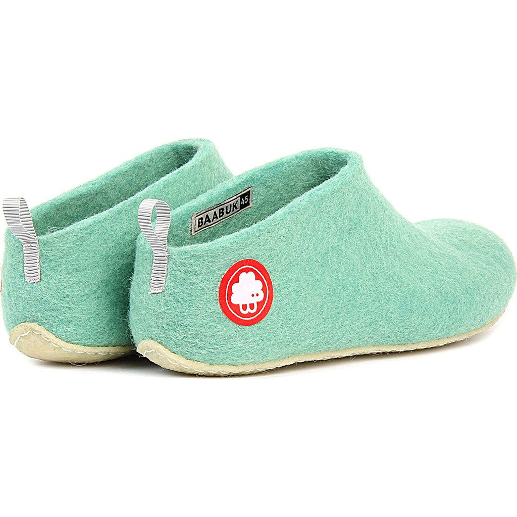 Baabuk Gus Wool Slippers | Green 37 GUS02-GN5-R-37