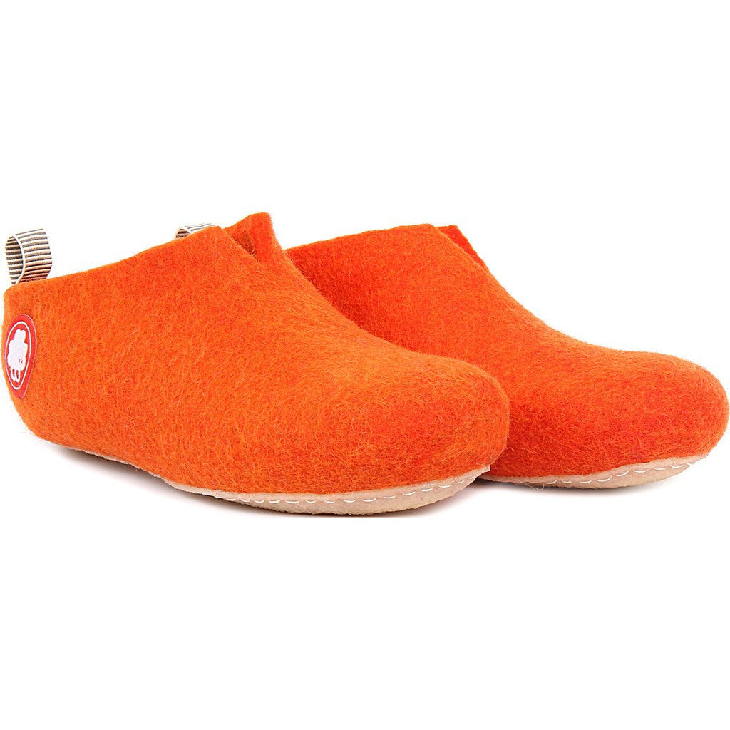 Baabuk Gus Wool Slippers | Orange 36 GUS02-R6-R-36