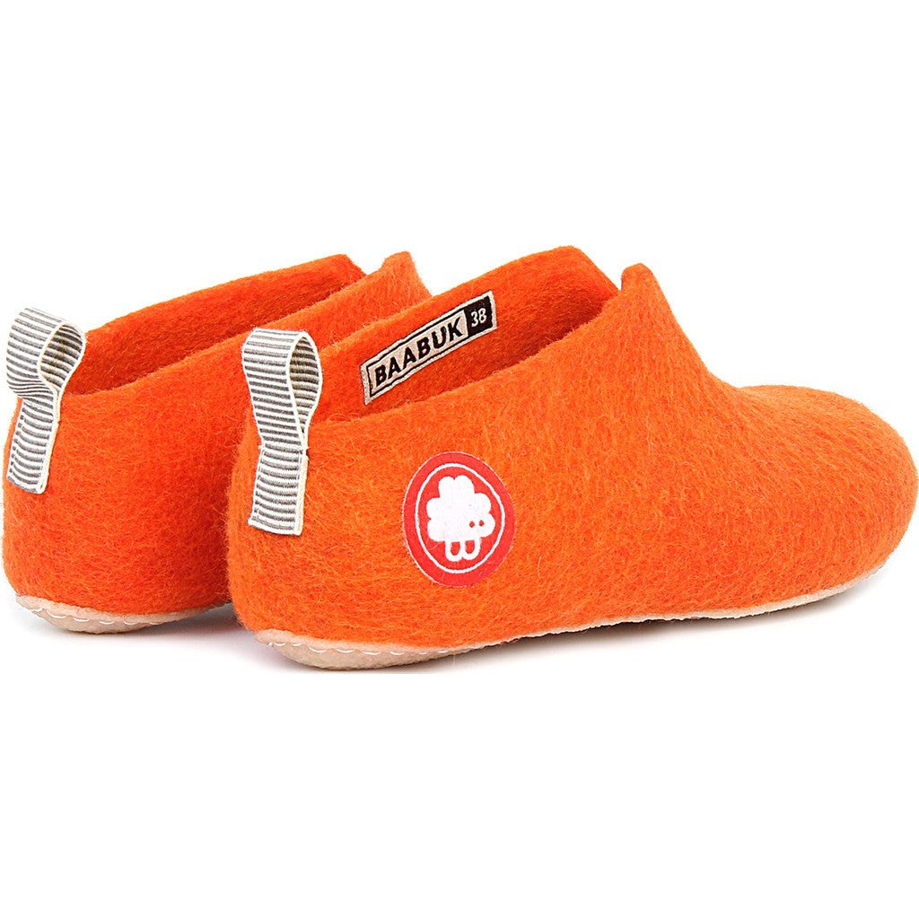 Baabuk Gus Wool Slippers | Orange 37 GUS02-R6-R-37
