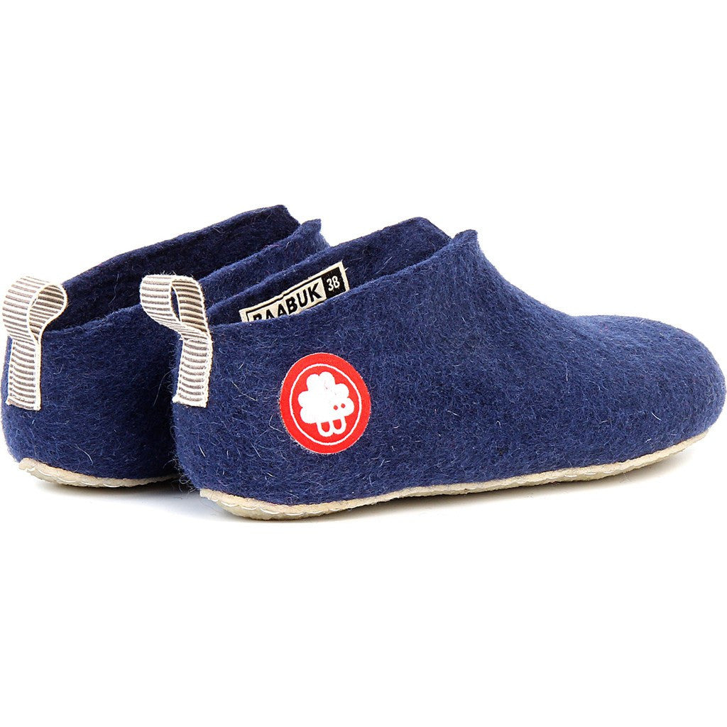 Baabuk Gus Kid's Wool Slippers | Navy Blue 26 GUS03-BL7-R-26