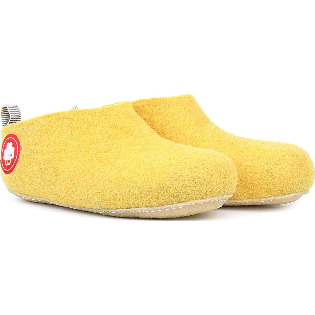Baabuk Gus Wool Slippers | Yellow 36 GUS02-Y4-R-36