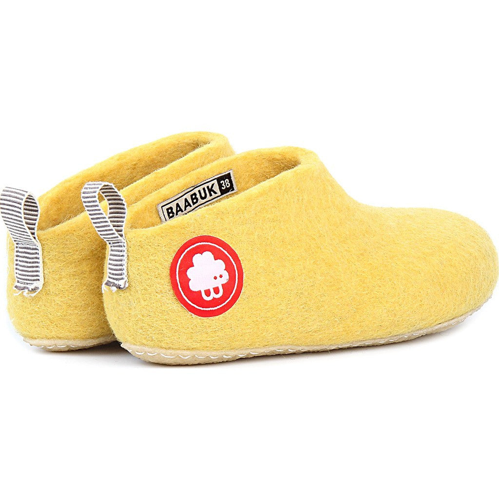 Baabuk Gus Wool Slippers | Yellow 37 GUS02-Y4-R-37