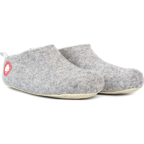 Baabuk Gus Wool Slippers | Light Grey 35 GUS02-LG-R-35