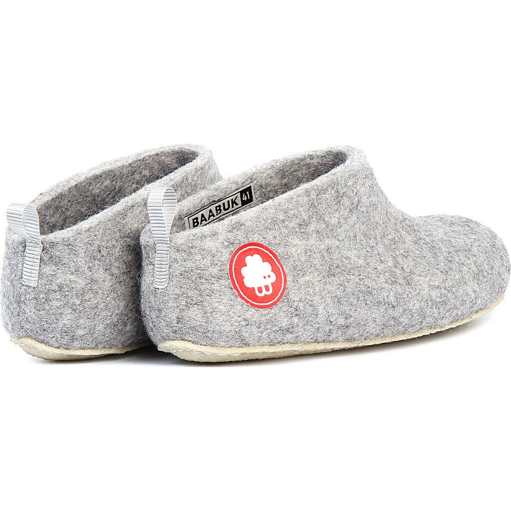 d535a5051 Baabuk Gus Wool Slippers | Light Grey 37 GUS02-LG-R-37 ...