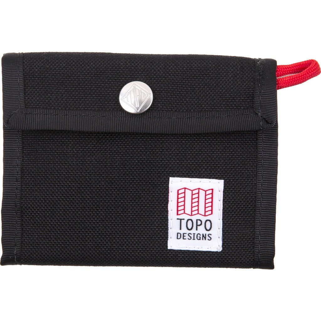 Topo Designs Tri-Fold Snap Wallet | Black