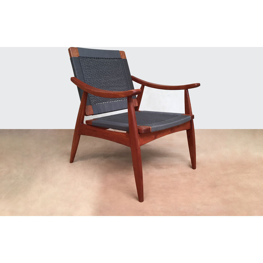 Masaya & Company Izapa Arm Chair Royal Mahogany/Charcoal Gray Manila