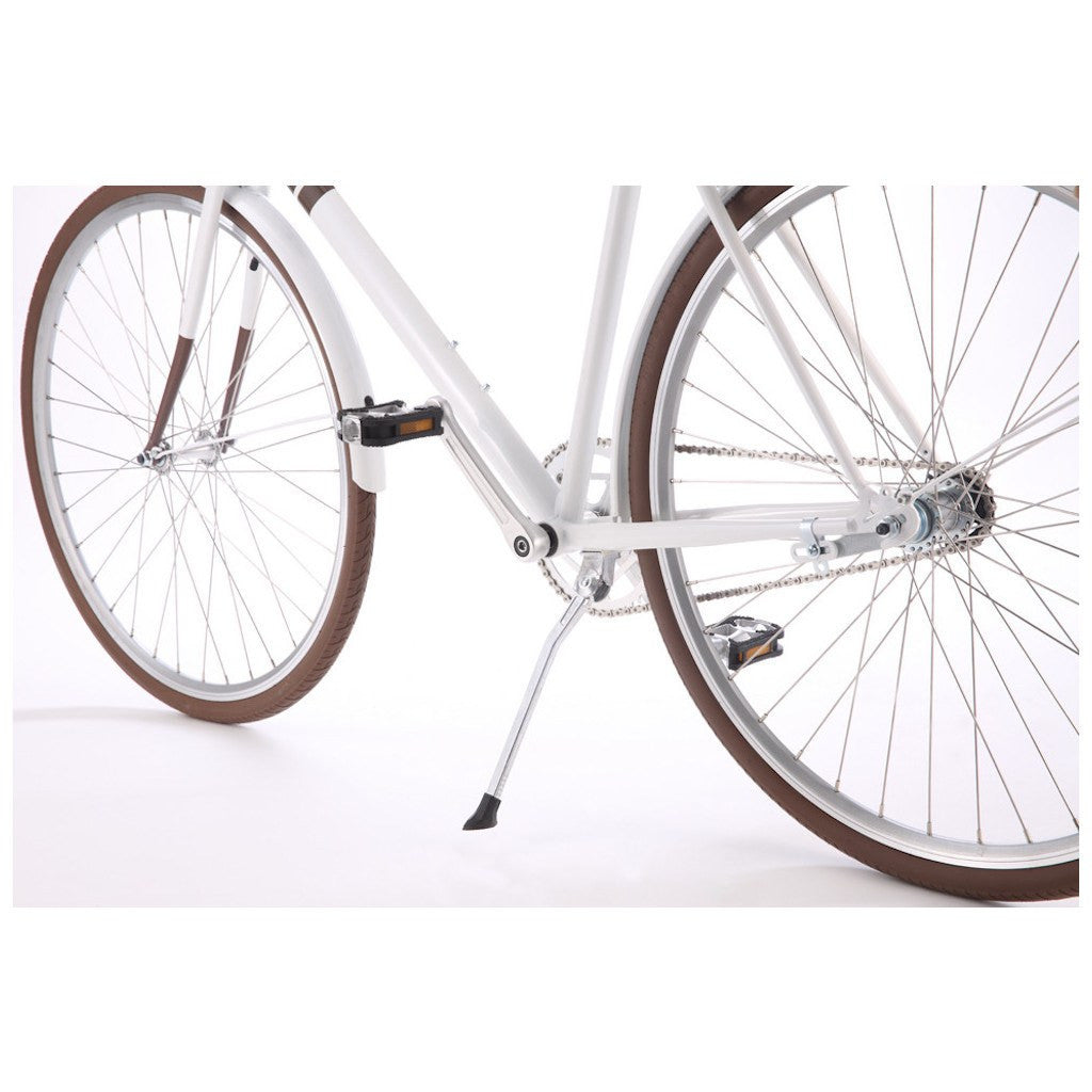 Sole Bicycles Ayu City City Cruiser Bike | Gloss White/Brown Accents CTB 003-58