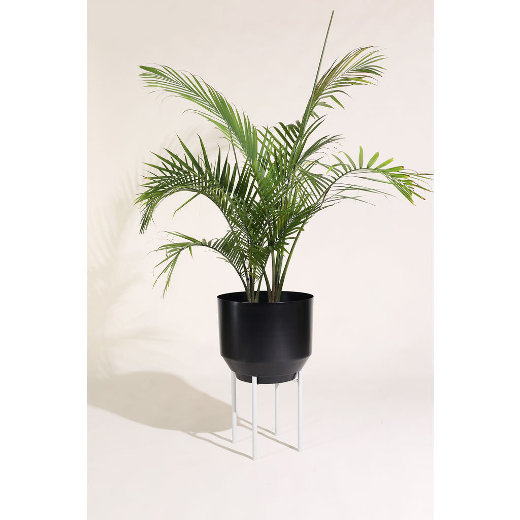 Yield Design Black Spun Planter