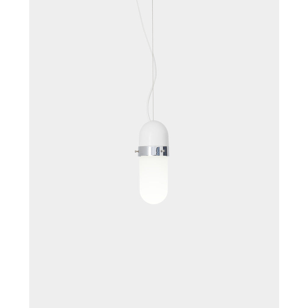 Object Interface Well Light Pill | White/Chrome WL1-WCh