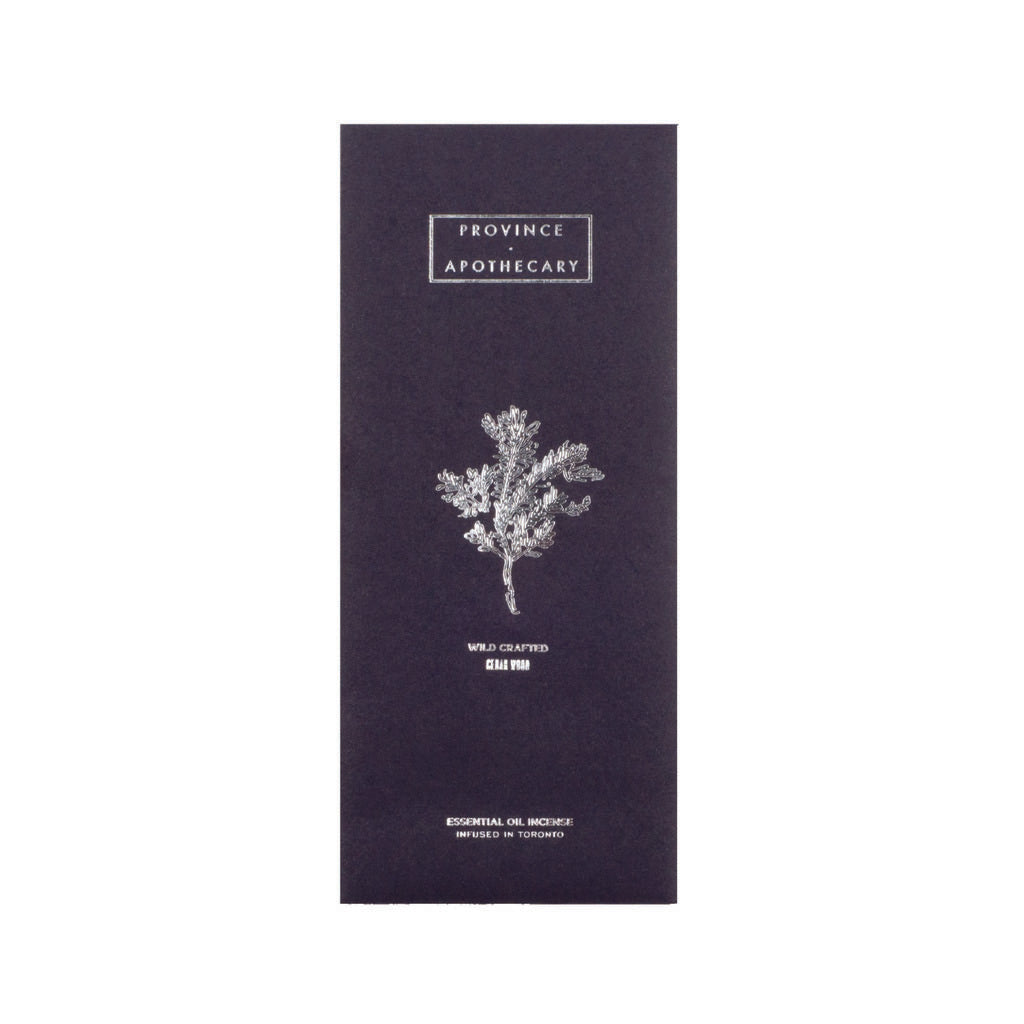 Province Apothecary Essential Oil Incense | Cedar