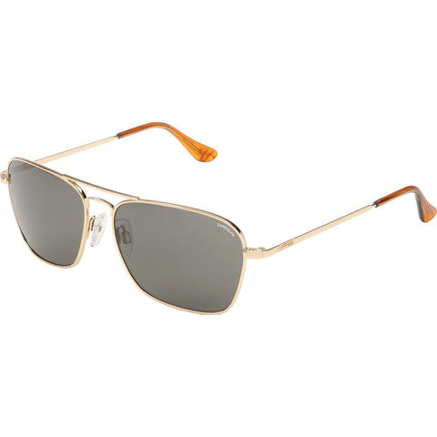 Randolph Engineering Intruder 23K Gold Plated Sunglasses | Gray Glass Skull 58MM IR81411