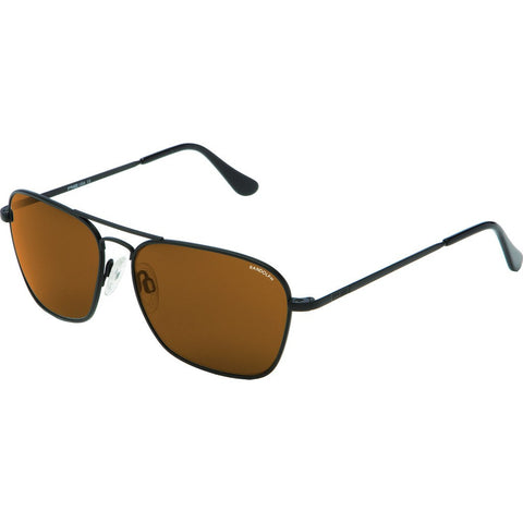 Randolph Engineering Intruder Matte Black Sunglasses | Tan Polarized PC Skull 58MM IR82432-PC
