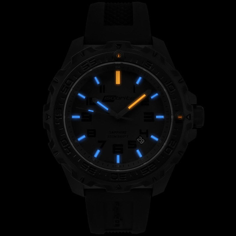 Isobrite T100 Eclipse Men's Watch Black-Blue | Silicone ISO201