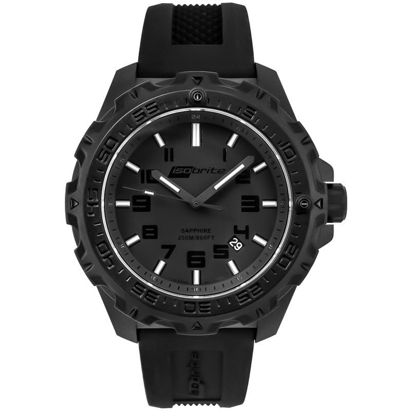 Isobrite T100 Eclipse Men's Watch Black-Green | Silicone ISO202