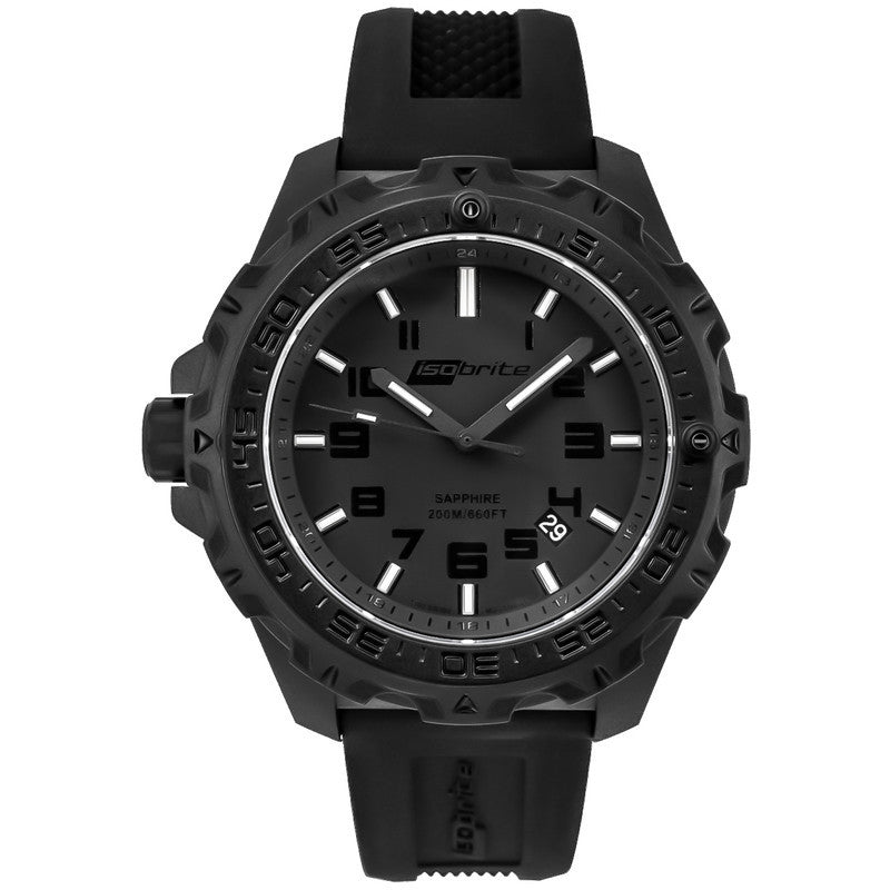 Isobrite T100 Eclipse Men's Watch Black Mil-Spec | Silicone ISO203MIL