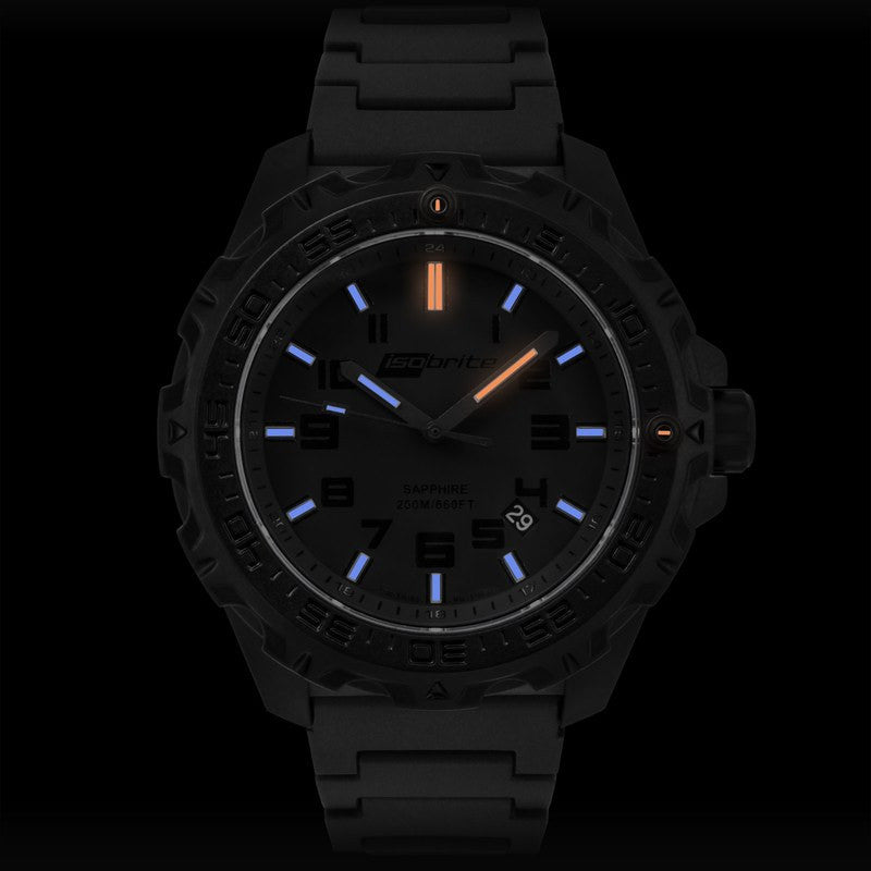 Isobrite T100 Eclipse Men's Watch Black-Blue | Polyurethane ISO211