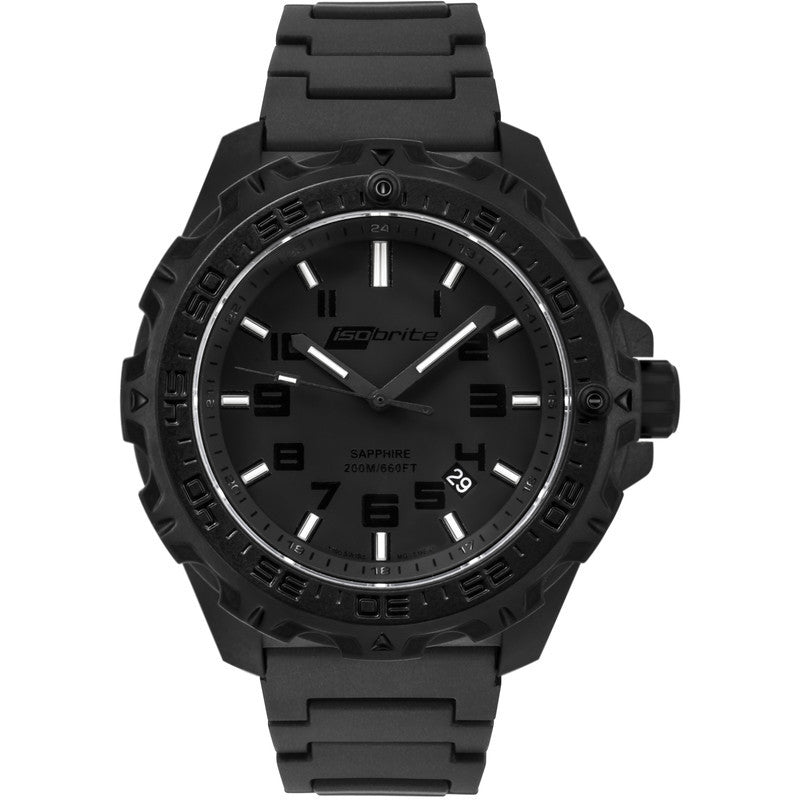 Isobrite T100 Eclipse Men's Watch Black-Green | Polyurethane ISO212