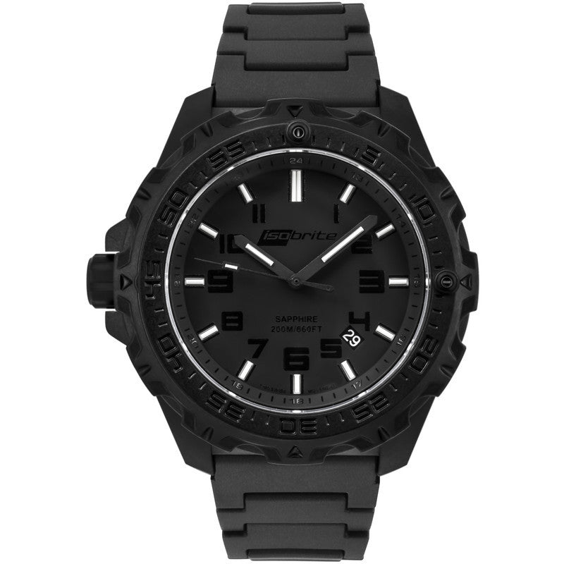 Isobrite T100 Eclipse Men's Watch Black Mil-Spec | Polyurethane ISO213MIL