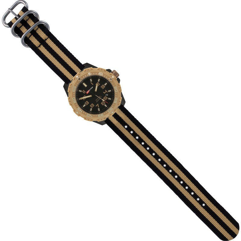 Isobrite T100 Limited Concept Men's Watch Tan-Black | Nylon ISO304NTT