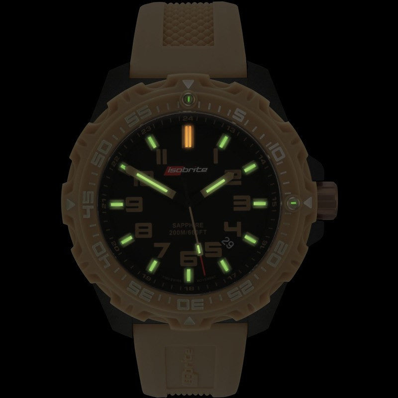 Isobrite T100 Limited Concept Men's Watch Tan-Black | Silicone ISO304ST