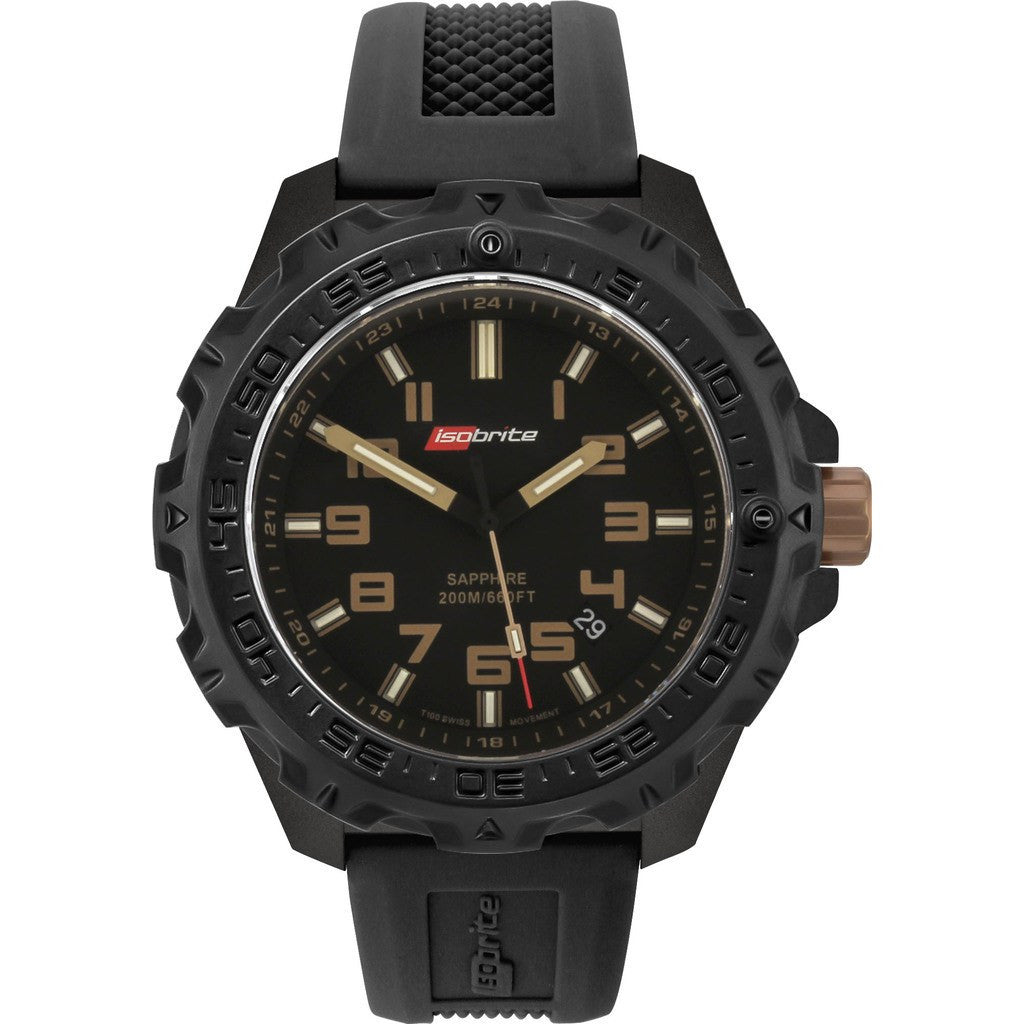 Isobrite Valor ISO306 Black Watch | Silicone