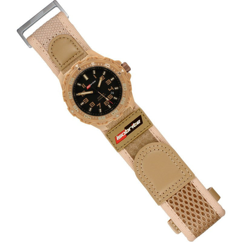 Isobrite T100 Valor Polycarbonate Men's Watch Tan-Black | Nylon ISO315
