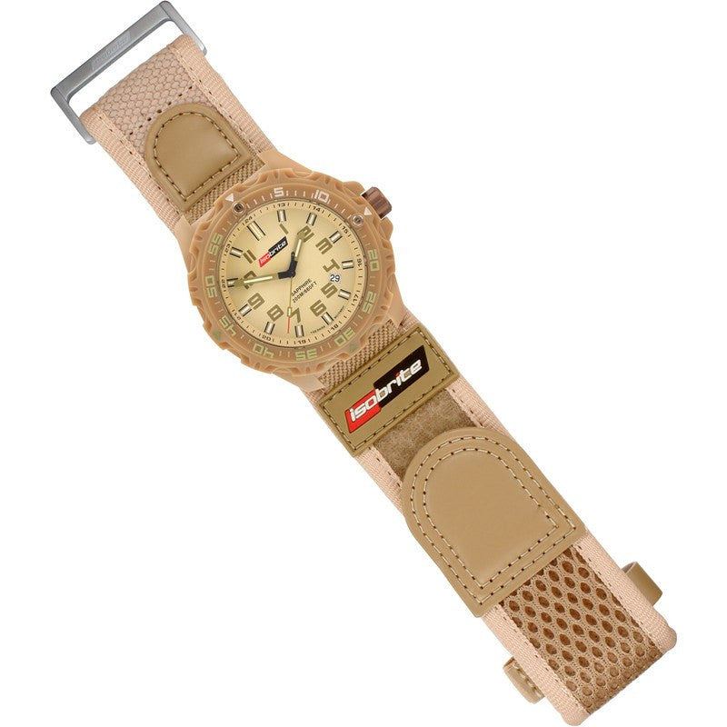 Isobrite T100 Valor Polycarbonate Men's Watch Tan-Green | Nylon ISO316
