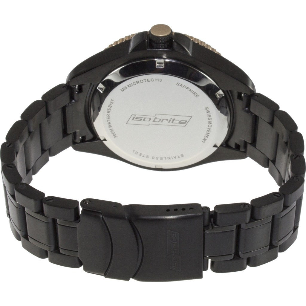 Isobrite Master Diver ISO502 Black-Gold Watch | Steel