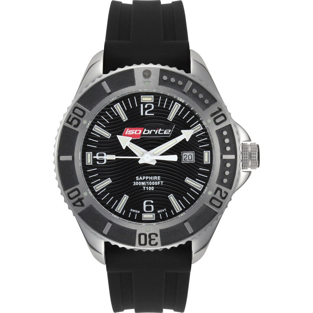Isobrite Master Diver ISO503 Silver Watch | NBR Rubber