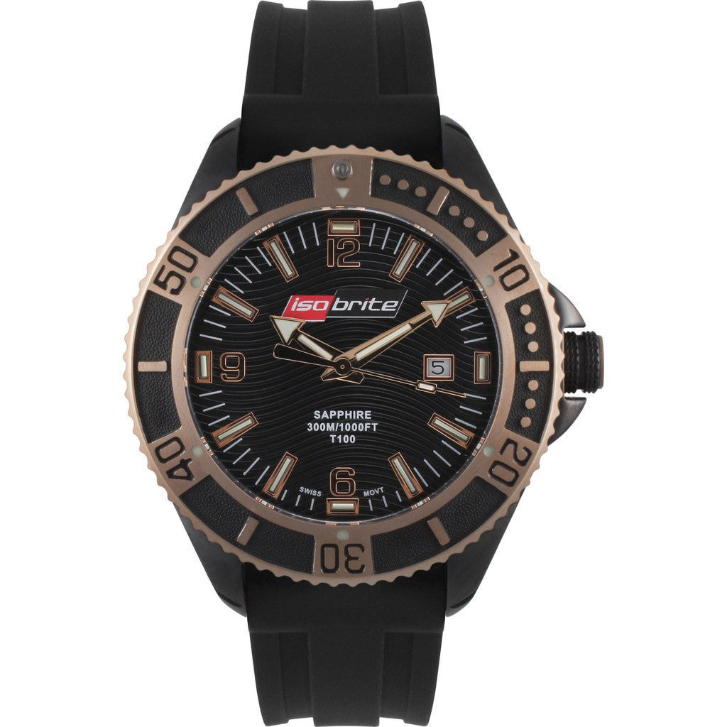Isobrite Master Diver ISO504 Black Watch | NBR Rubber