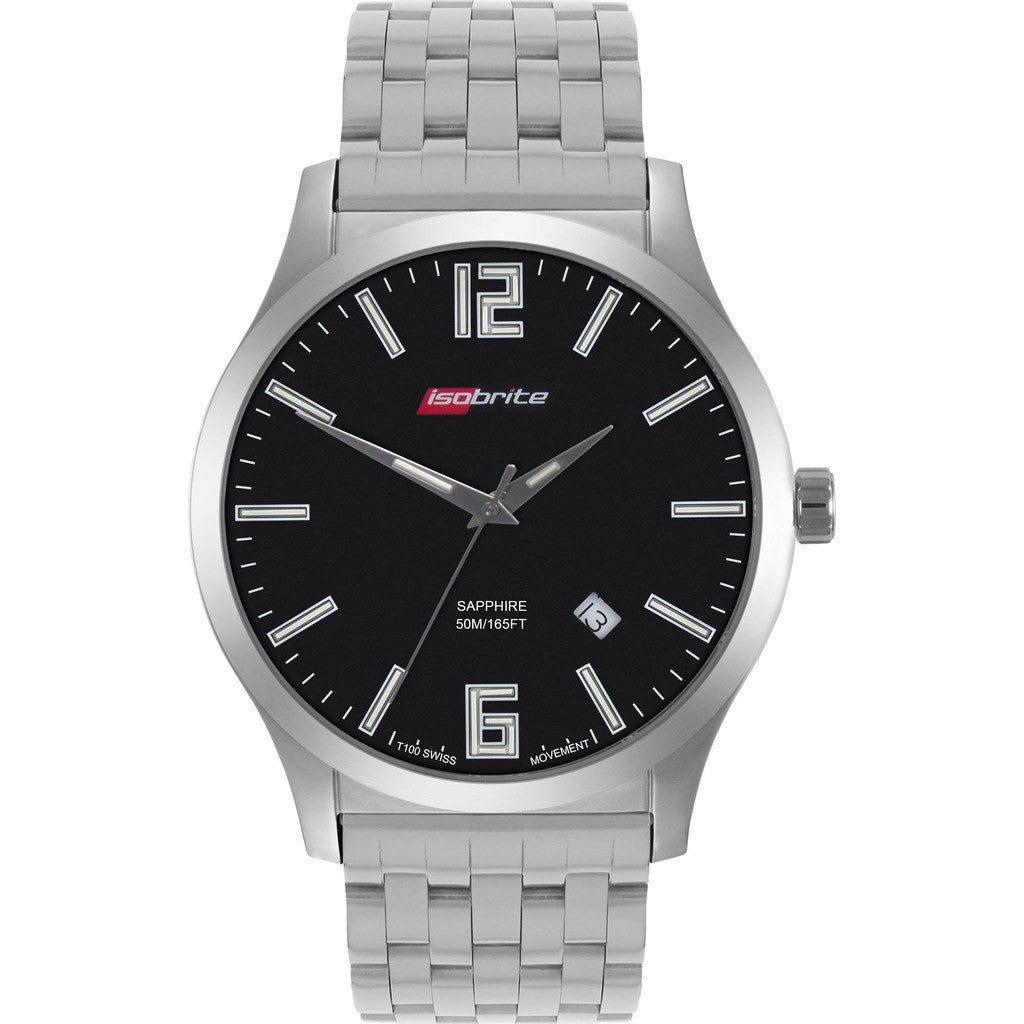 Isobrite Grand Slimline Series ISO912 Black Watch | Stainless Steel