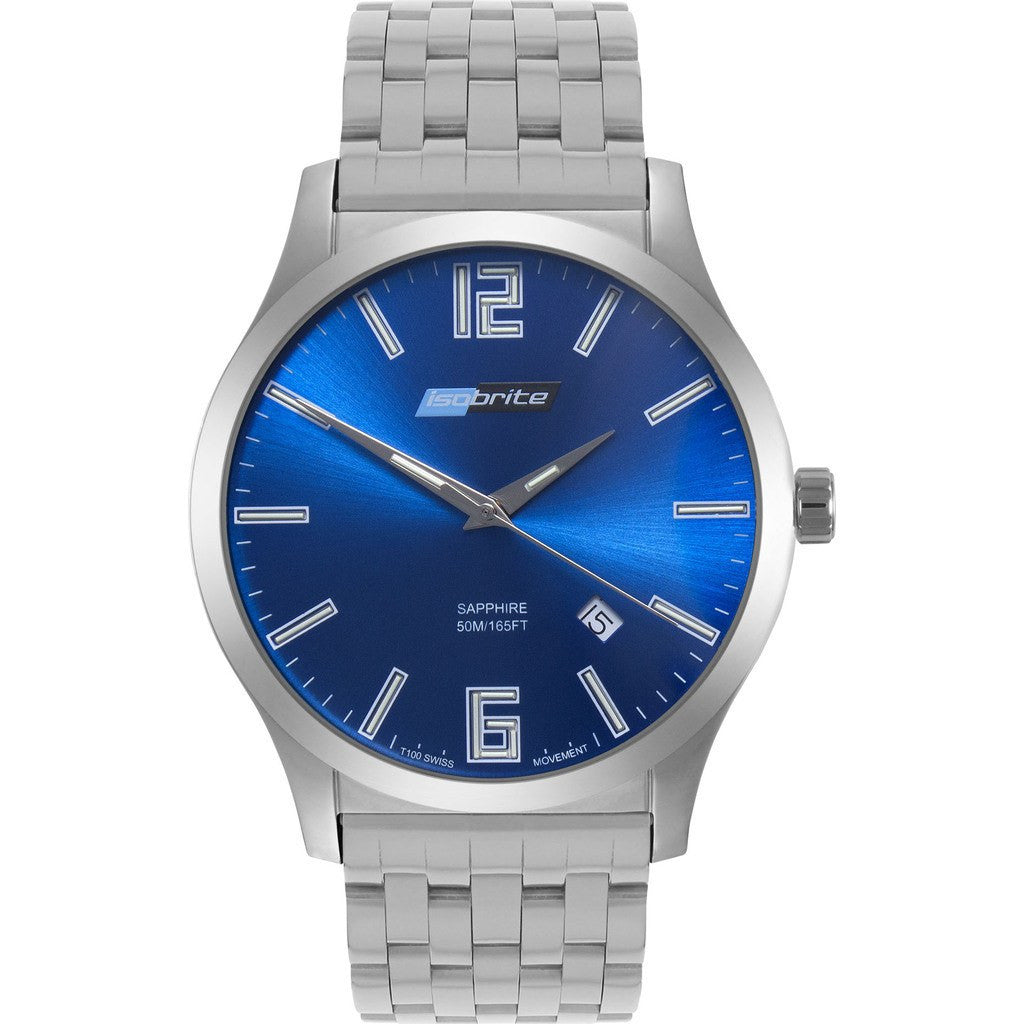 Isobrite Grand Slimline Series ISO913 Blue Watch | Stainless Steel