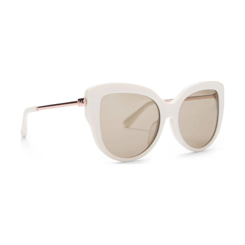 Diff Eyewear Avery Sunglasses | Ivory + Brown Lens